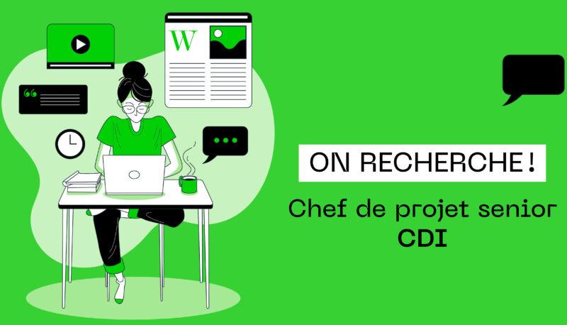Image recrutement chef de projet senior CDI paris
